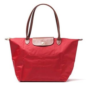 Longchamp Le Pliage Small Red Tote Bag NWOT a1f607bdca